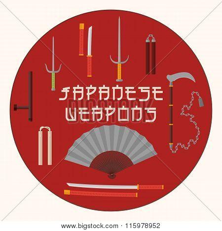 Japanese Wepons Set