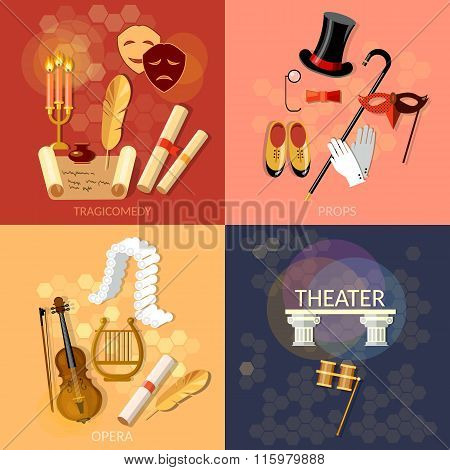 Theatre Flat Theater Set Musical Operetta Entertainment And Performance Elements Literature