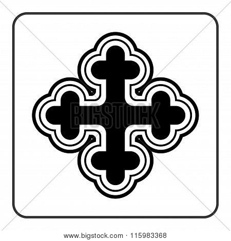 Cross Icon On White Background
