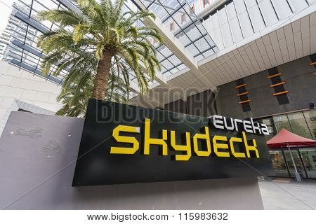 Eureka Skydeck sign