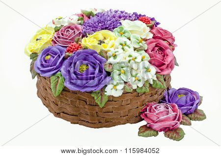 Butter cream flower cake (wedding cake)