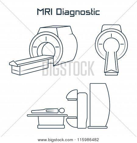 Mri Diagnostic Vector Icons.vector Symbols. Vector Illustration