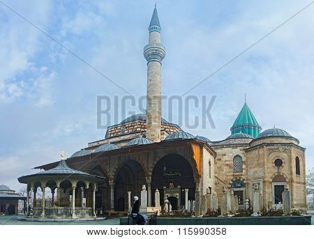 The Mosque And Mausoleum In Mevlana Museum