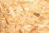 OSB material Texture - Recycled compressed wood chippings board plywood texture. poster