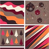 Seamless patterns with fabric texture, christmas texture poster