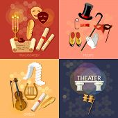 Theatre flat theater set musical operetta entertainment and performance elements literature dramaturgy poster