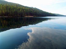 A Mountain Lake Under A Deep Blue Sky Priest Lake Idaho Usa