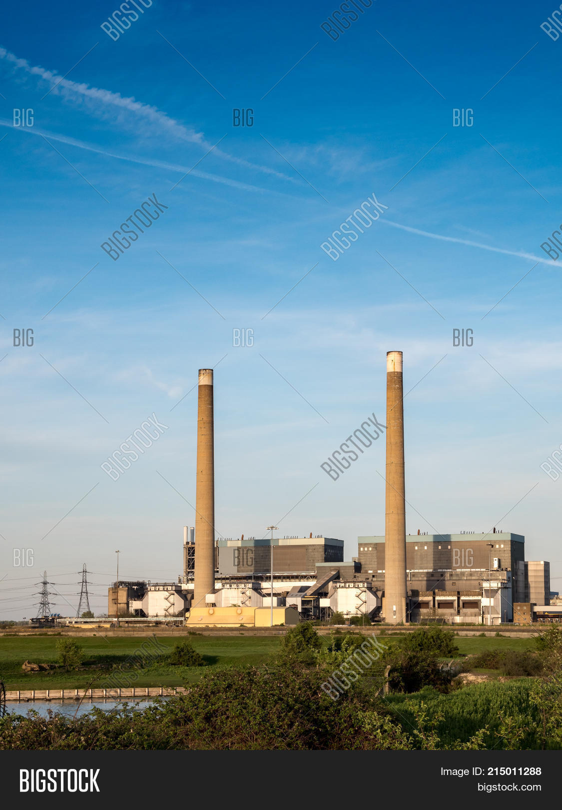 Decommissioned Coal Image Photo Free Trial Bigstock Electrical National Grid The Powered Tilbury Power Stations On North Bank Of River Thames With