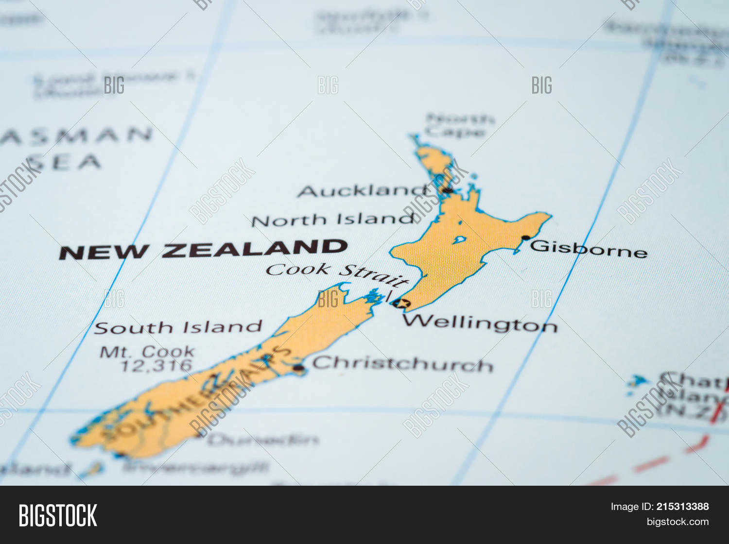 New Zealand On The Map.New Zealand On Map Image Photo Free Trial Bigstock