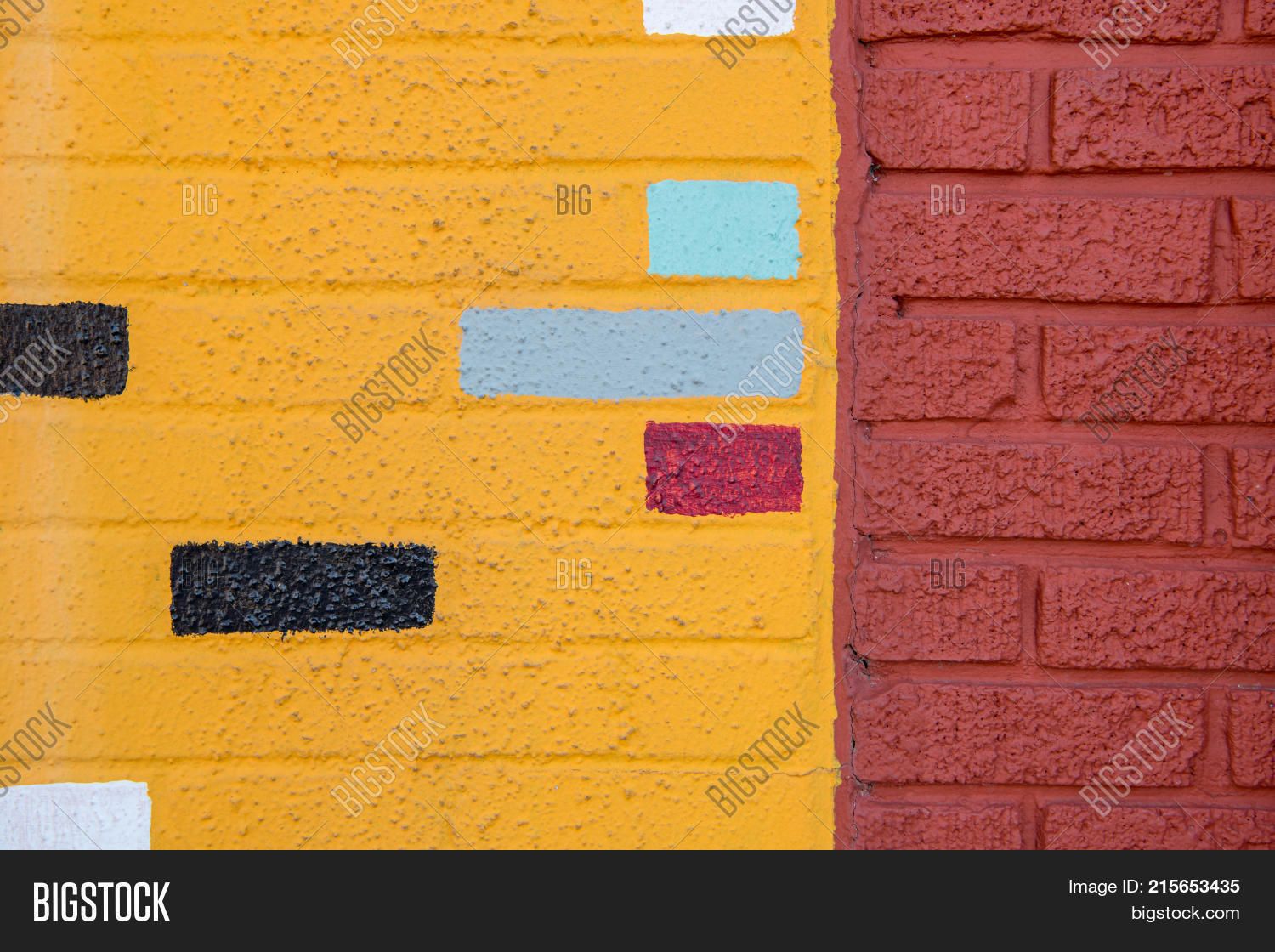 Colorful Painted Brick Image & Photo (Free Trial) | Bigstock