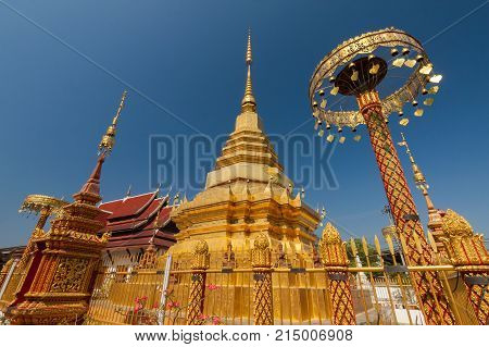 Buddhist temple in Pa sang Lamphun Thailand