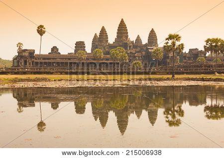 Morning at Ankor Wat Siem Reap Cambodia