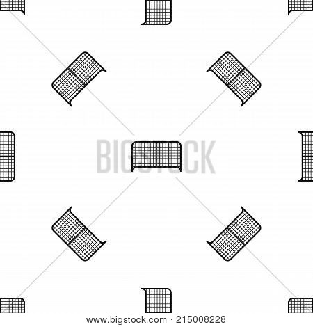 Gate pattern repeat seamless in black color for any design. Vector geometric illustration