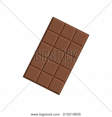 Chocolate bar isolated on white background. Vector stock.