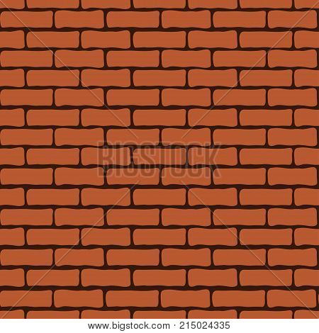 Brick wall seamless pattern vector background. Brickwork infinite repeatable element. For wallpaper design fabric wrappers