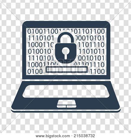 Silhouette Laptop  Security