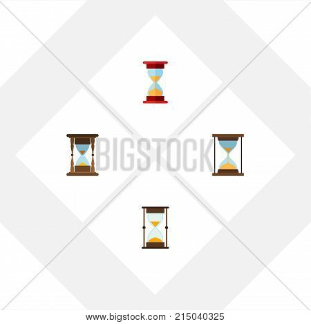 Flat Icon Timer Set Of Loading, Measurement, Minute Measuring And Other Vector Objects
