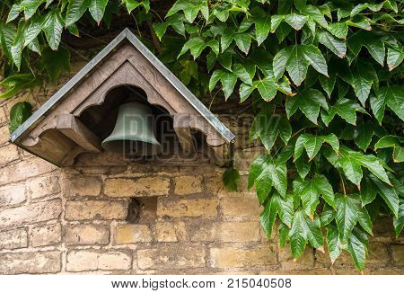 Bell at the hospital of the Holy Ghost or Aalborg Kloster in the old town of Aalborg in Denmark