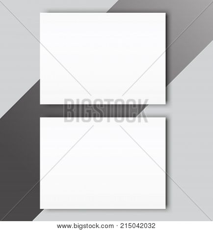 Blank catalogue landscape brochure mockup cover template.