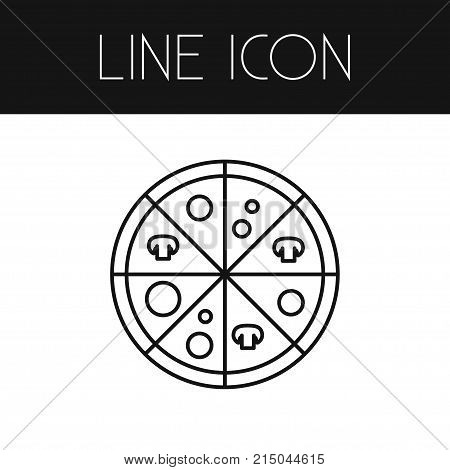 Pizzeria Vector Element Can Be Used For Pizzeria, Pizza, Pepperoni Design Concept.  Isolated Pizza Outline.
