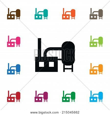 Manufacture Vector Element Can Be Used For Manufacture, Factory, Chimney Design Concept.  Isolated Chimney Icon.