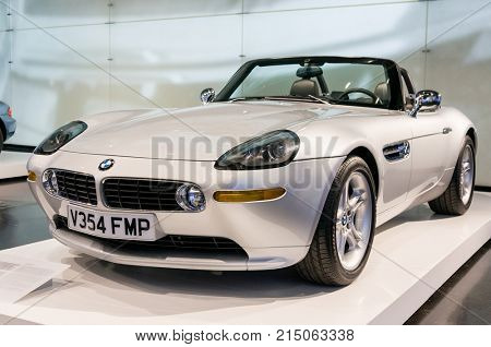 Munich, Germany - March 10, 2016: Roadster display in BMW Museum