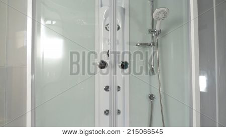 Shower cabin. Sliding mechanism of a shower cabin. Shower cabin, stall