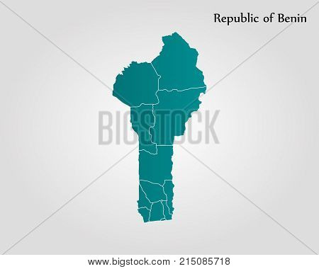 Map Of Republic Of Benin