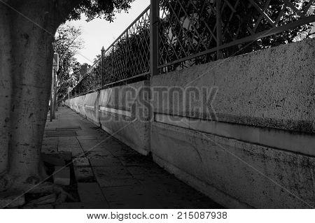 Puerto Banus. Streets of the city of Puerto Banus. Marbella, Costa del Sol, Andalusia, Spain.