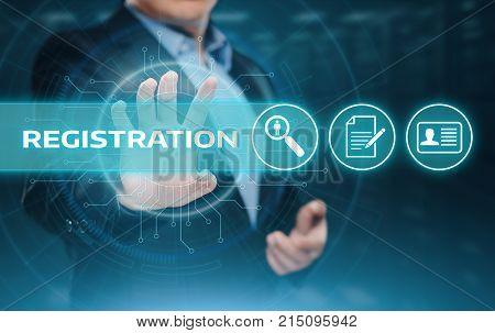 Registration Online Membership Network Internet Business Technology Concept.