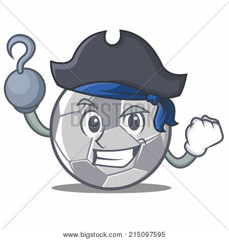 Pirate football character cartoon style vector illustration