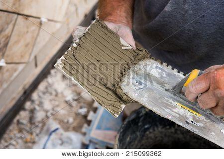 Mortar Beening Applied