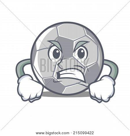 Angry football character cartoon style vector illustration