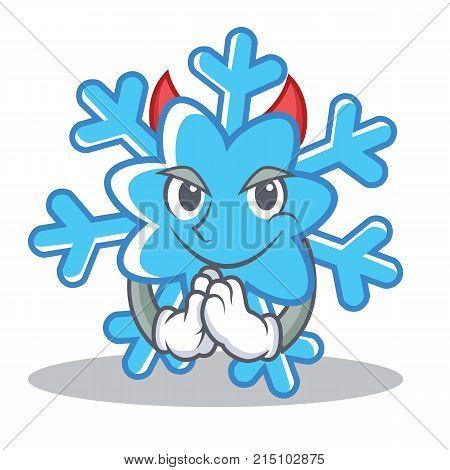 Devil snowflake character cartoon style vector illustration