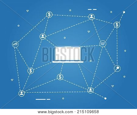 Bitcoin vector illustration background design collection stock
