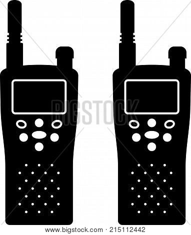 Police radio for interphone communication, shade pictures