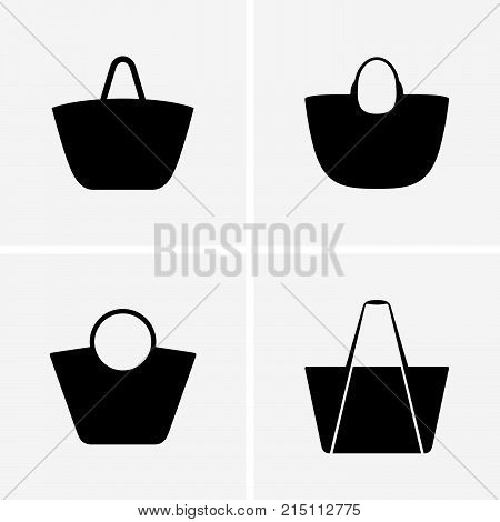 Set of four beach bags, shade pictures