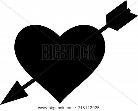 Arrow in the heart, love symbol, shade picture