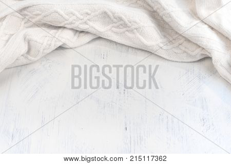Background painted wooden Textile drape. The view from the top
