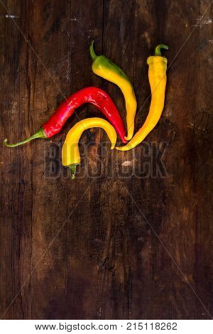 Red And Yellow Hot Peppers