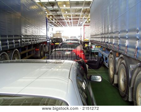 Inside Car Ferry