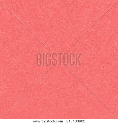 Creative clutter pattern. Chaotic texture in red colors. Pink background perfect as backdrop for text and other your design elements. Tangled lines of thread.