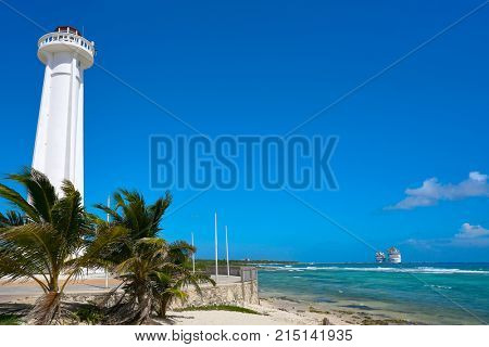 Mahahual lighthouse in Costa Maya of Mayan Mexico