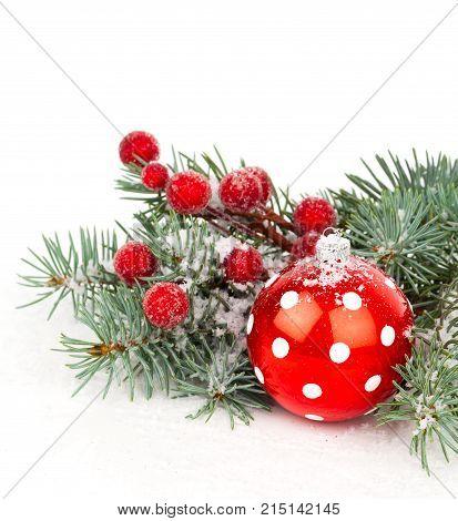 christmas decoration ball isolated on white background