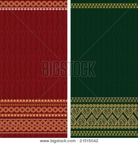 Indian Sari with heavy Gold coloured Border