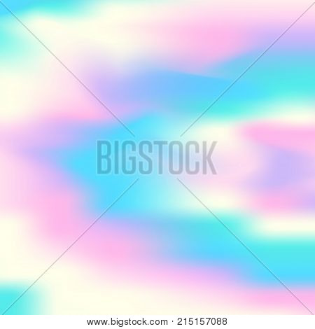 Vector Holographic Abstract Background. Holographic Foil Texture
