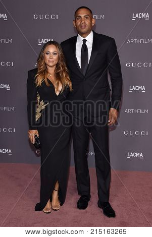 LOS ANGELES - NOV 04:  Grant Hill and Tamia Hill arrives for the 2017 LACMA Art + Film Gala on November 04, 2017 in Los Angeles, CA