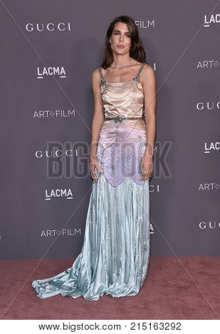 LOS ANGELES - NOV 04:  Charlotte Casiraghi arrives for the 2017 LACMA Art + Film Gala on November 04, 2017 in Los Angeles, CA