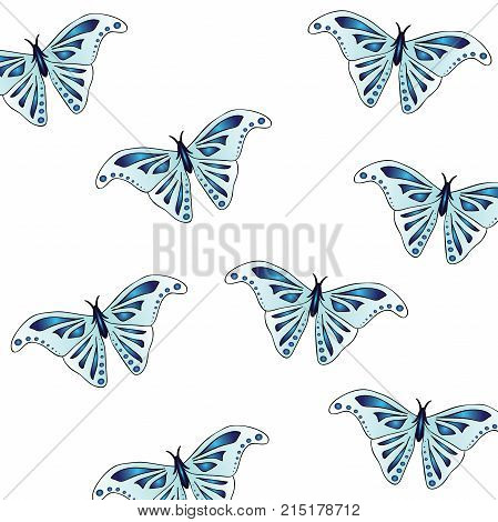 Beautiful texture animal print - butterflies. Wings of the insect are light blue with a beautiful indigo pattern. Stylish summer print.