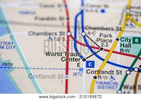 World Trade Center, Eigth Avenue Line, Nyc. Usa
